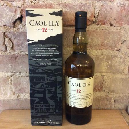 Caol Ila  Aged 12 Years Islay Single Malt Scotch Whisky NV