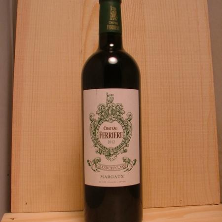 Château Ferrière Margaux Red Bordeaux Blend 2012