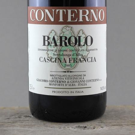 Giacomo Conterno Cascina Francia Barolo Nebbiolo 2005 (1500ml)