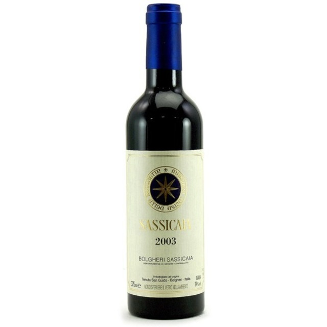 Bolgheri Sassicaia Cabernet Sauvignon Cabernet Franc 2003 (375ml)