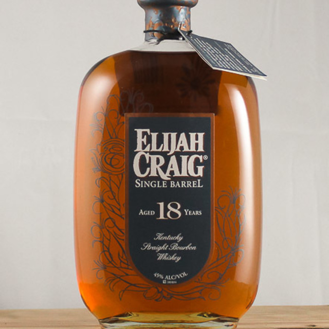 Elijah Craig Aged 18 Years Single Barrel Kentucky Straight Bourbon Whiskey NV