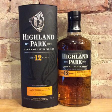 Highland Park Distillery 12 Year Orkney Single Malt Scotch Whisky NV