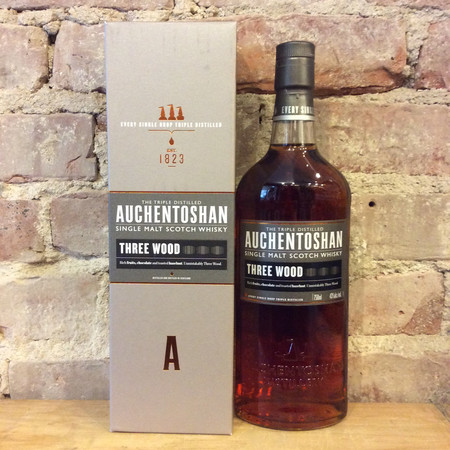 Auchentoshan Distillery  Three Wood Triple Distilled Single Malt Scotch Whisky NV