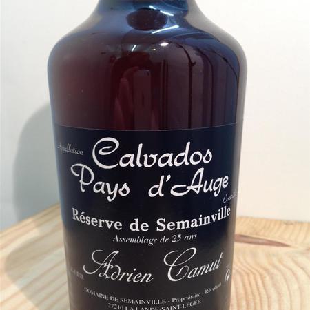 Adrien Camut Réserve de Semainville Pays d'Auge 25 year Calvados Apple Brandy NV