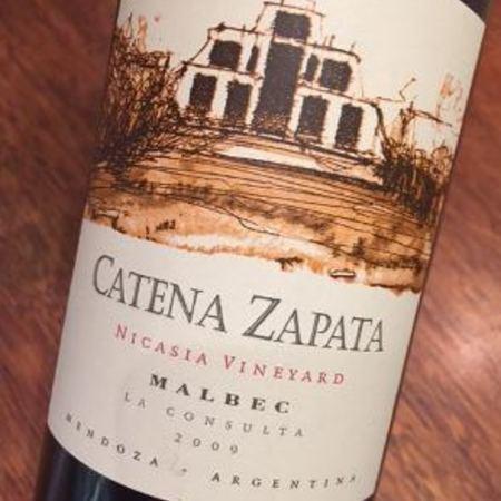 Bodega Catena Zapata Nicasia Vineyard Malbec 2009
