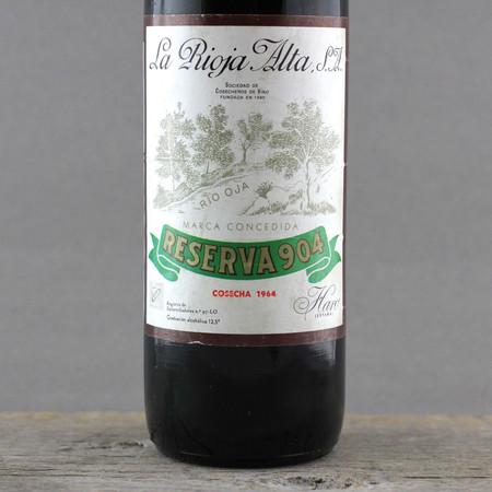 La Rioja Alta Gran Reserva 904 Rioja Tempranillo Graciano 1964