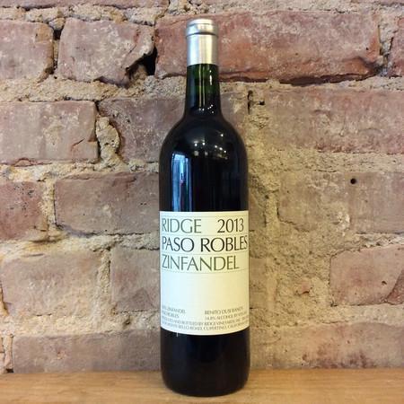 Ridge Vineyards Paso Robles Zinfandel 2015
