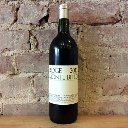Ridge Vineyards Estate Monte Bello Vineyard Cabernet Sauvignon Blend 2014