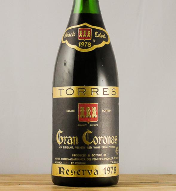 Gran Coronas Reserva Black Label Penedés Cabernet Sauvignon 1978