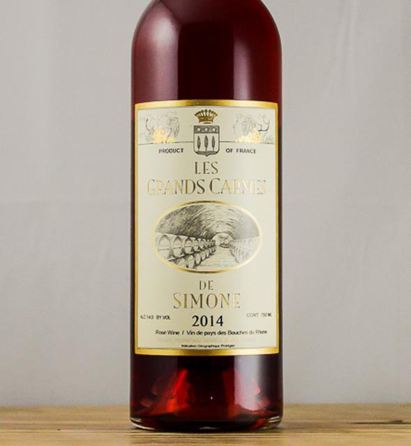 Les Grands Carmes de Simone Vin de Pays des Bouches-du-Rhône Rosé Blend 2014