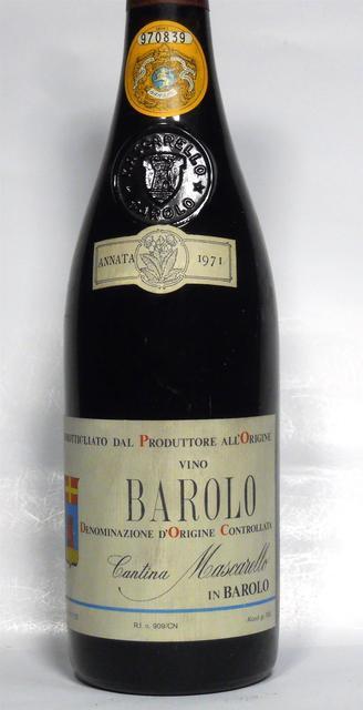 Cantina Bartolo Mascarello Barolo Nebbiolo 1971