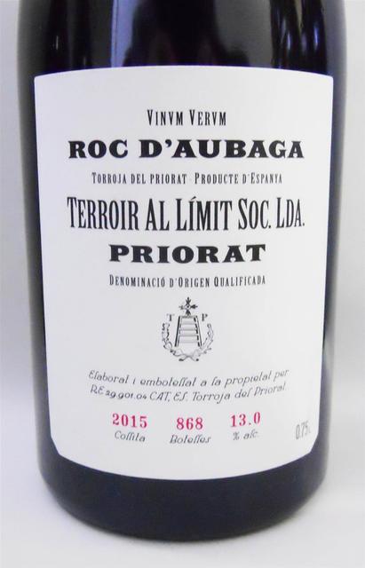 Terroir al Límit Roc d'Aubaga Rosado Grenache 2015