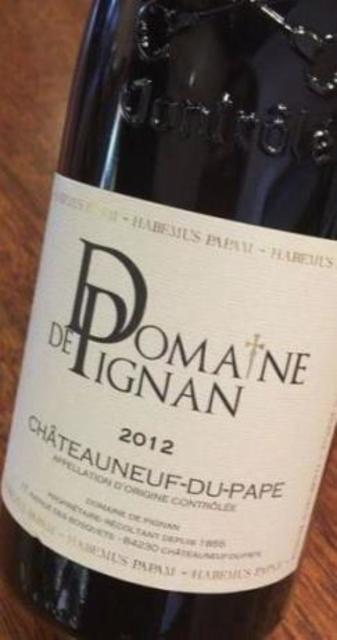 Domaine de Pignan Habemus Papam Châteauneuf-du-Pape Red Rhone Blend 2014