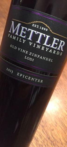 Mettler Family Vineyards Epicenter Old Vine Lodi Zinfandel 2013