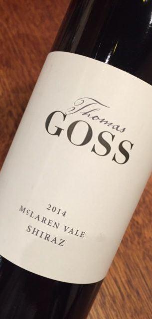 Thomas Goss McLaren Vale Shiraz 2015