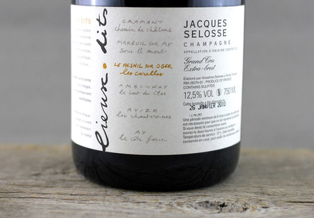 Jacques Selosse Lieux Dits  Les Carelles Extra Brut Blanc de Blancs Grand Cru Champagne Chardonnay NV