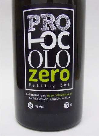 RuBor Viticultores  Protocolo Zero Melting Pot Blanco  Albillo 2014