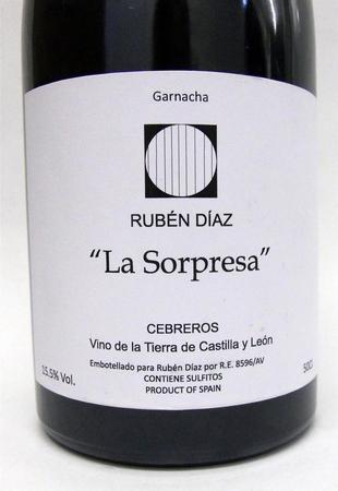 "Rubén Díaz ""La Sorpresa"" Tonel No. 6  Saca de 2014 Albillo NV (500ml)"