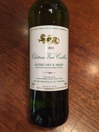 Château Vrai Caillou Bordeaux Blanc Sémillon-Sauvignon Blanc Blend 2015