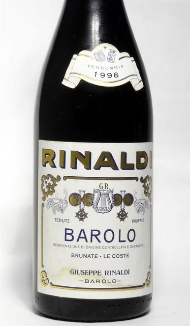 Giuseppe Rinaldi Brunate Le Coste Barolo Nebbiolo 1998