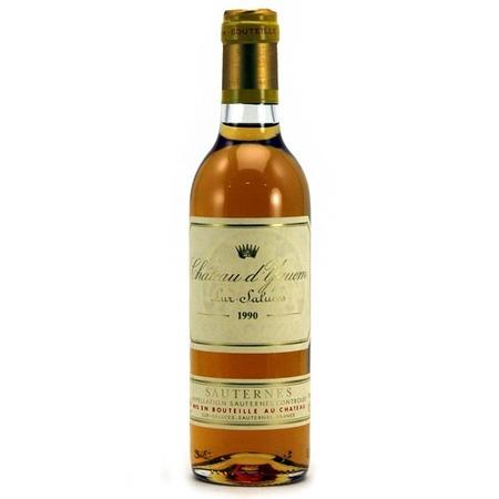 Château d'Yquem Sauternes Sémillon-Sauvignon Blanc Blend 1990 (375ml)