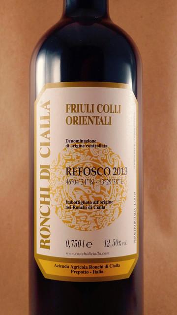 Ronchi di Cialla Colli Orientali del Friuli Refosco dal Peduncolo Rosso di Cialla 2013