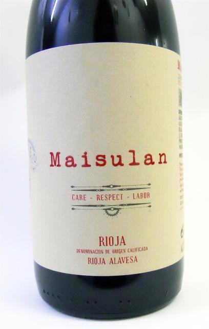 Maisulan Rioja Tempranillo 2015