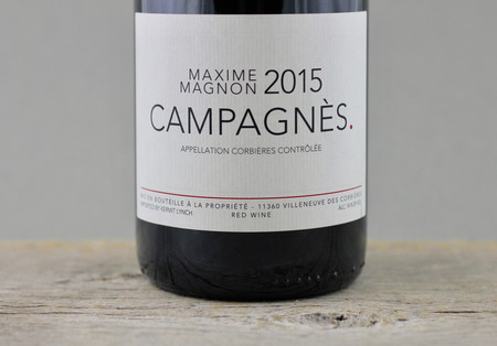 Maxime Magnon Campagnes Corbières Carignane 2015