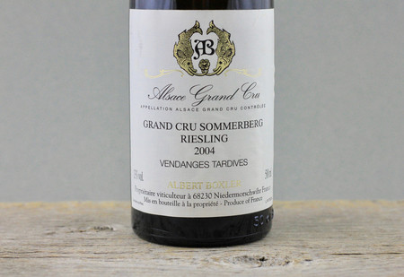 Albert Boxler Grand Cru Sommerberg Vendanges Tardives Riesling 2004 (500ml)