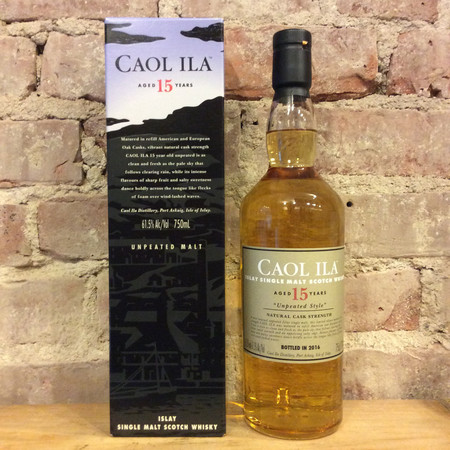 Caol Ila  Aged 15 Years Islay Single Malt Scotch Whisky NV