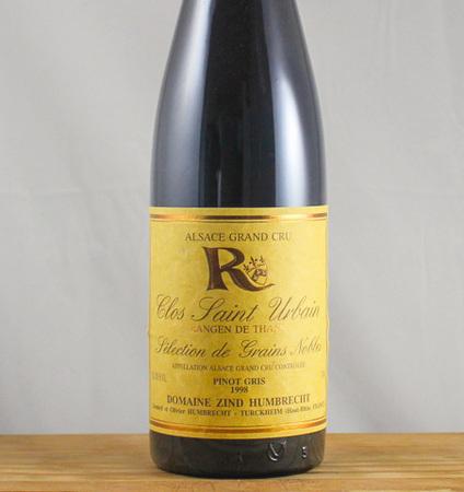Domaine Zind Humbrecht Clos Saint Urbain Rangen de Thann Sélection de Grains Nobles Pinot Gris  1998