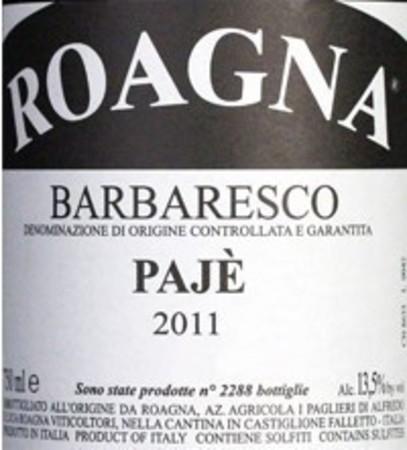 Roagna Pajè Barbaresco Nebbiolo 2011