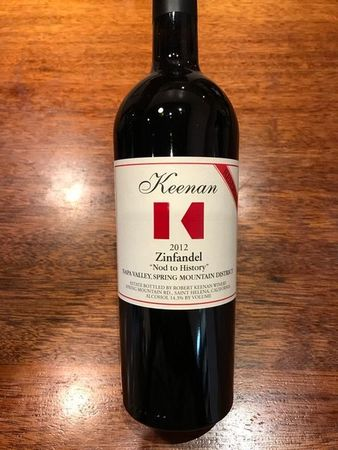 Robert Keenan Winery A Nod to History Zinfandel Premiere Lot #120 2012