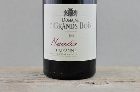 Domaine les Grands Bois Cuvée Maximilien Côtes du Rhône Villages Cairanne Red Rhone Blend 2014