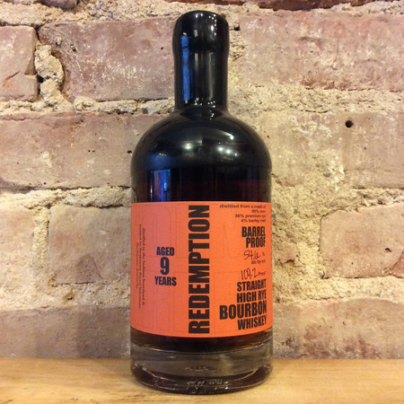 Redemption 9 Years Straight High Rye Bourbon Whiskey NV
