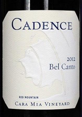 Cadence Bel Canto Cara Mia Vineyard Red Blend 2012