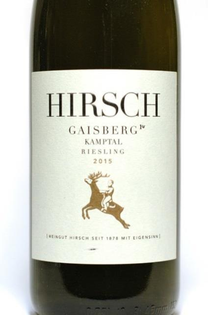 Weingut Hirsch Kamptal Gaisberg Riesling 2015