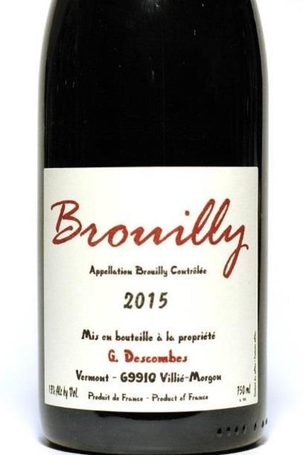 Georges Descombes Brouilly Gamay 2015