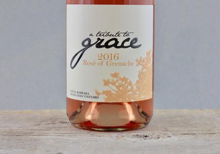 A Tribute to Grace Wines Santa Barbara Highlands Rosé of Grenache 2016