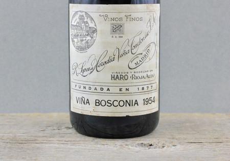 R. López de Heredia Viña Bosconia Gran Reserva Rioja Tempranillo Blend 1954
