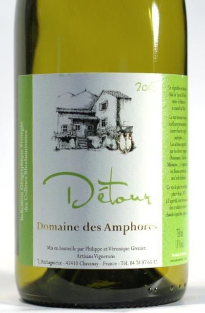 Domaine des Amphores Détour Blanc Collines Rhodaniennes Roussanne Blend 2015