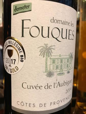 Domaine les Fouques Cuvée de l'Aubigue Côtes de Provence Rouge Syrah Blend 2014