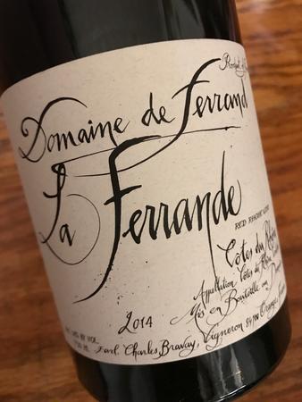 Domaine de Ferrand La Ferrande Côtes du Rhône Syrah 2014