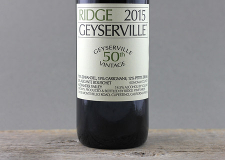 Ridge Vineyards Geyserville Vineyard Zinfandel Blend 2015