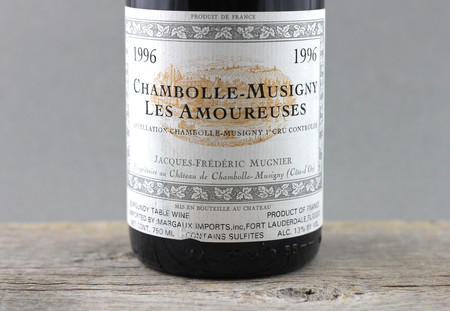 Jacques-Frédéric Mugnier Les Amoureuses Chambolle-Musigny 1er Cru Pinot Noir 1996