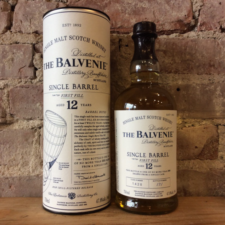 The Balvenie Distillery Single Barrel First Fill Aged 12 Years Single Malt Scotch Whisky NV