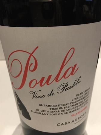 Casa Aurora Poula Vino de Pueblo Red Blend 2015