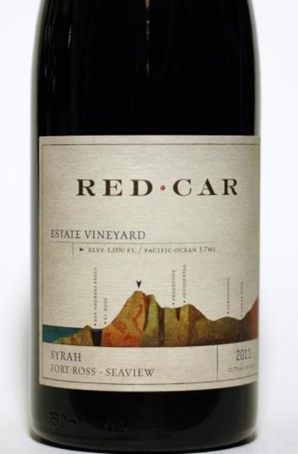 Red Car Estate Vineyard Fort Ross-Seaview Syrah 2011