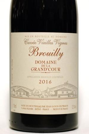 Domaine De La Grand'Cour (Jean-Louis Dutraive) Cuvée Vieilles Vignes Brouilly Gamay 2016