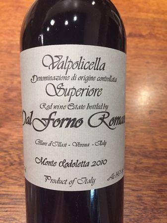 Romano Dal Forno Valpolicella Superiore Corvina Blend 2010